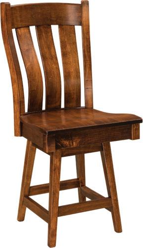 Amish Chesterton Hardwood Swivel Bar Stool