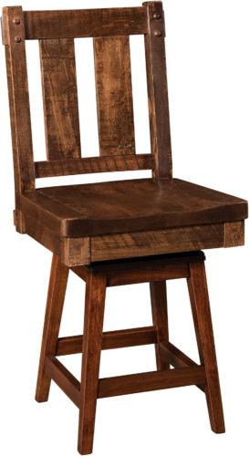 Amish Houston Hardwood Swivel Bar Stool