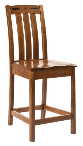 Amish Lavega Wooden Bar Chair