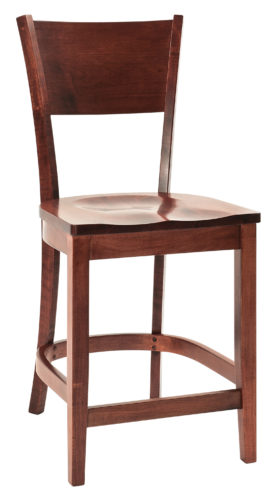 Amish Somerset Stationary Bar Chair