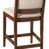 Amish Wescott Bar Chair Back Detail