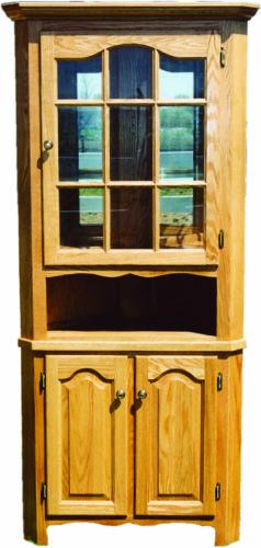 Amish 25 Inch Corner Wood Hutch