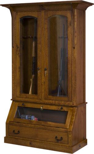 Amish Breckenridge Two Door Gun Cabinet