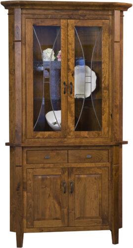 Amish Candice Two Door Corner Hutch