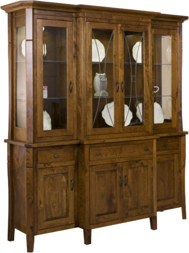 Amish Candice Leaded Glass Hutch