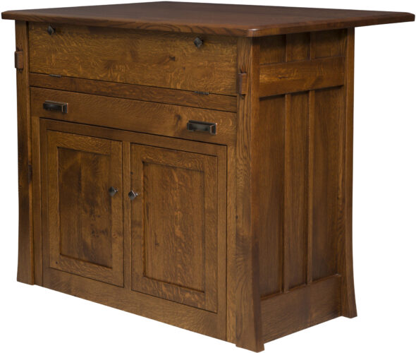 Amish Grant Frontier Island Cabinet