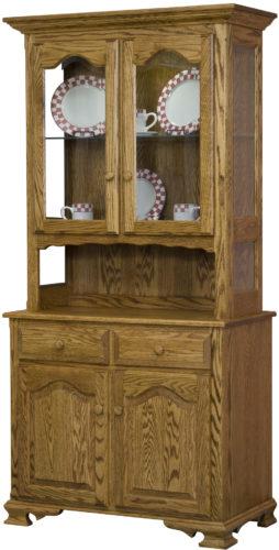 Amish LaGrange Two Door Open Deck Hutch