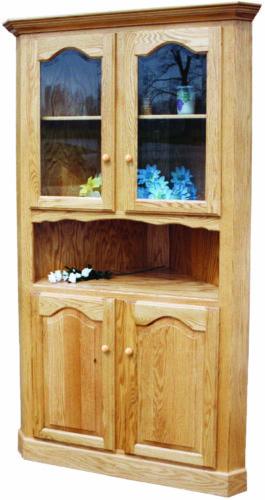 Amish LaGrange Corner Curio Cabinet