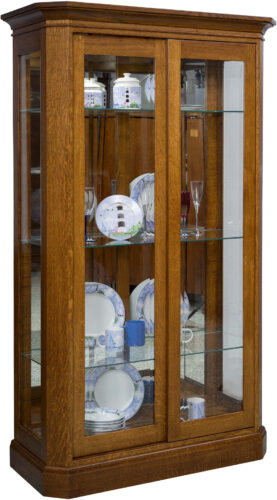 Amish Latonia Curio Cabinet with Two Doors