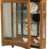 Amish Leda Small Curio Cabinet Open