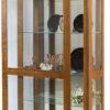 Amish Leda Large Curio Cabinet Open