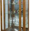 Amish Leda Medium Curio Cabinet Open