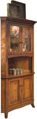 Amish Montpelier Corner Hutch Cabinet