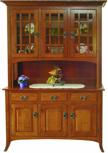 Amish Open Mission 3 Door Hutch