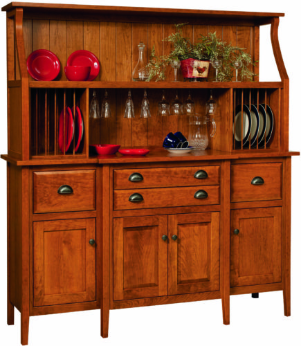 Amish Stowell Open Hutch