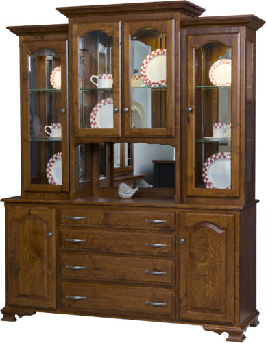 Amish Vintage Hutch with Open Deck