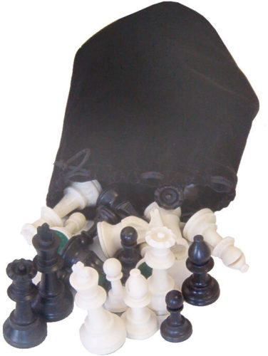 Large Chess Pieces with Bag