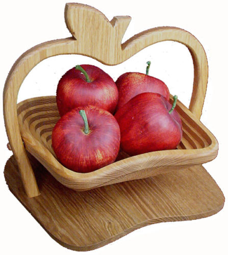 Collapsible Basket with Apple Base