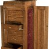 Classic Sleigh Jewelry Armoire Open