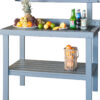 Painted Cypress Garden Table