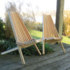 Set of Two Cypress Cricket Chairs