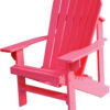 Adirondack Chair with Coral Paint