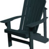 Adirondack Chair with Charcoal Paint