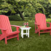 End Table and Adirondack Set in Coral and White