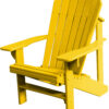 Adirondack Chair with Yellow Paint