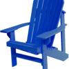 Adirondack Chair with Indigo Paint