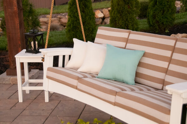 Throw Pillows in Rib Natural and Canvas Glacier