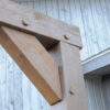 Ruff Swing Frame Mortise and Tenon Close Up