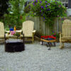 Treated Pine Patio Setting with Adirondack Chairs and Rocker