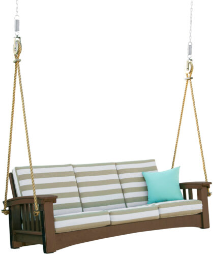 Chocolate Poly Mission Sofa Rope Swing