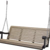 5 Ft. Weatherwood Black Poly Grandpa Swing