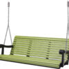 5 Ft. Lime Black Poly Grandpa Swing