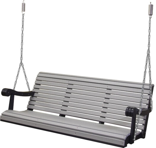 5 Ft. Poly Grandpa Swing in Light Gray and Black
