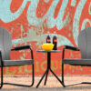 Manchester Poly Chairs with Retro Side Table