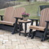 Single and Double Adirondack Glider Set