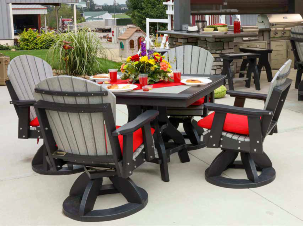 Poly Lumber Square Patio Table Dining Set