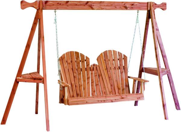 Cedar Adirondack Tripod Swing