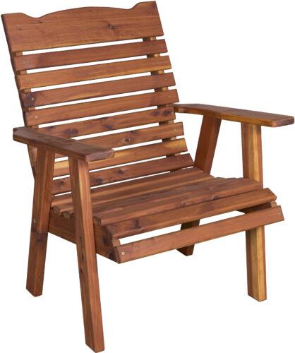 Cedar Straightback Patio Chair