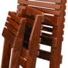 Cedar Fisherman's Chairs Folded