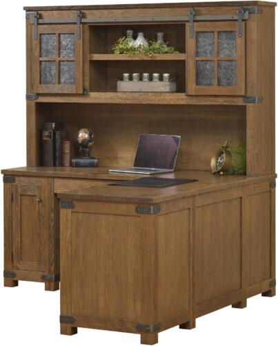 Amish Georgetown Corner Desk with Hutch