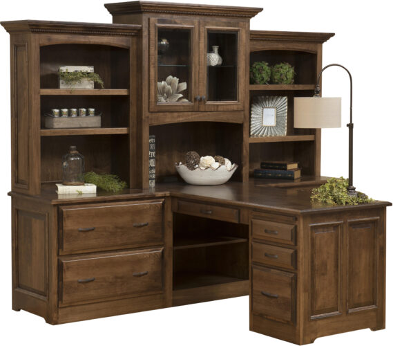 Amish Liberty Partners Desk and Hutch