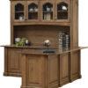 Amish Signature Corner Desk and Hutch Back Detail