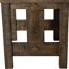Dallas Trestle Table Side Detail