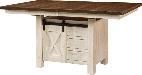 Amish Tulsa Cabinet Dining Table