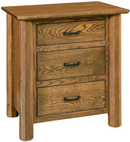 Amish Fenwood 3 Drawer Nightstand