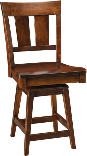 Amish Elliot Bar Stool with Swivel Seat